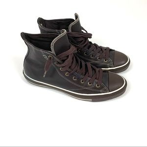 Brown Leather All Star Converse Size 11M 13W